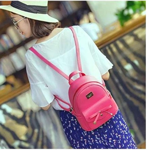 2b19ad57d Bags | Cute Mini Leather Backpack Fashion For Girls And W | Poshmark